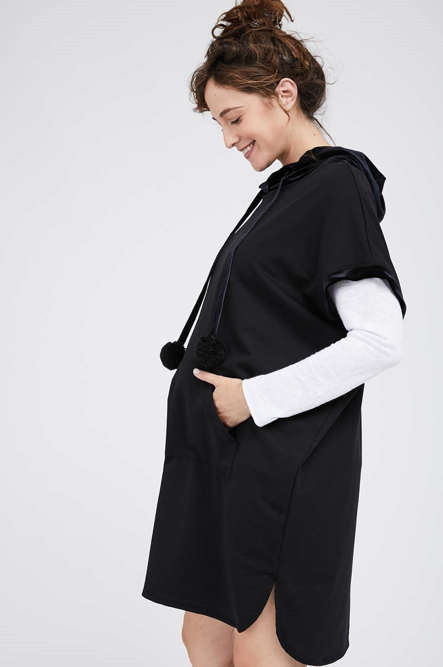 Picture of Maeve Hoodie Dress Black