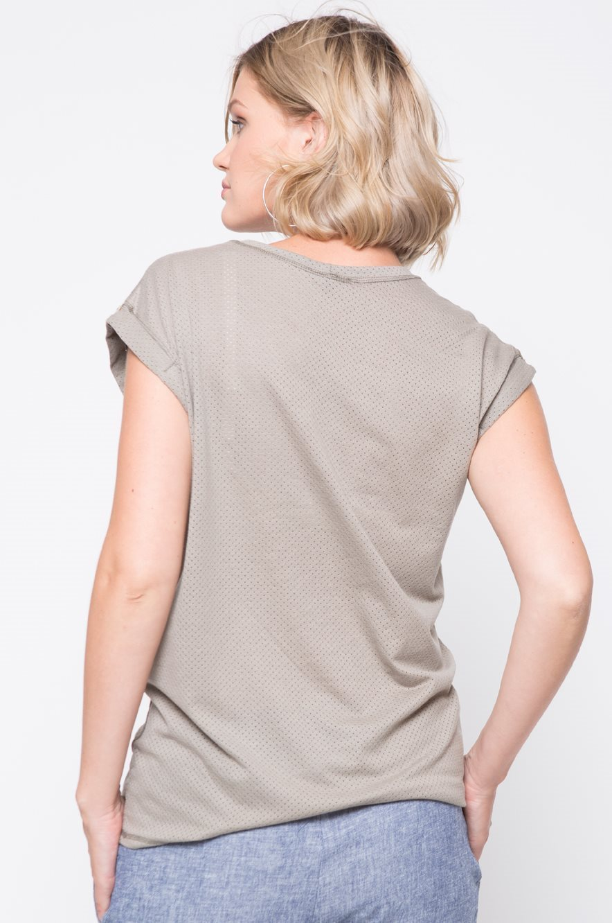 Picture of Mesh Top Olive Green