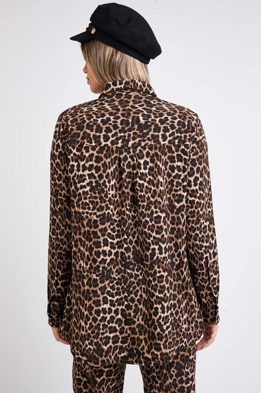 Picture of Button Through Blouse Leopard