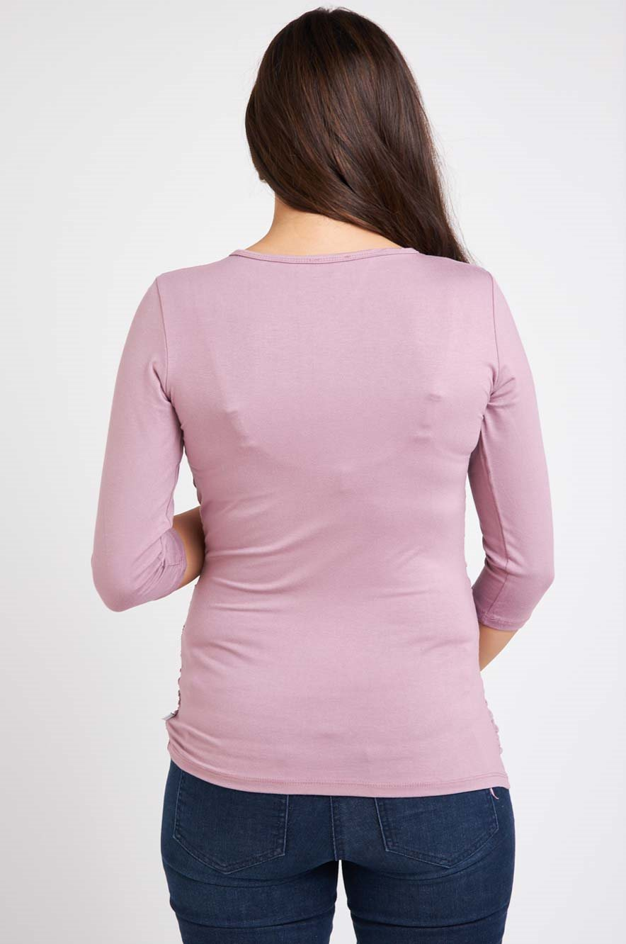 Picture of Niki Top Midi Sleeve Purple