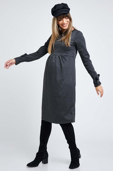 Picture of Zohar Dress Black and Grey Plaid