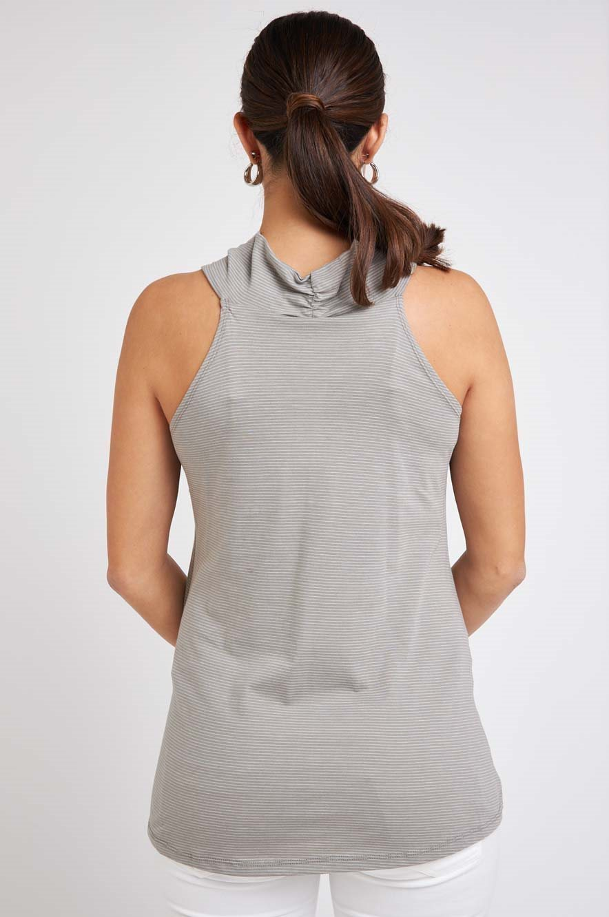 Picture of Cowl Neck Nursing Top Olive