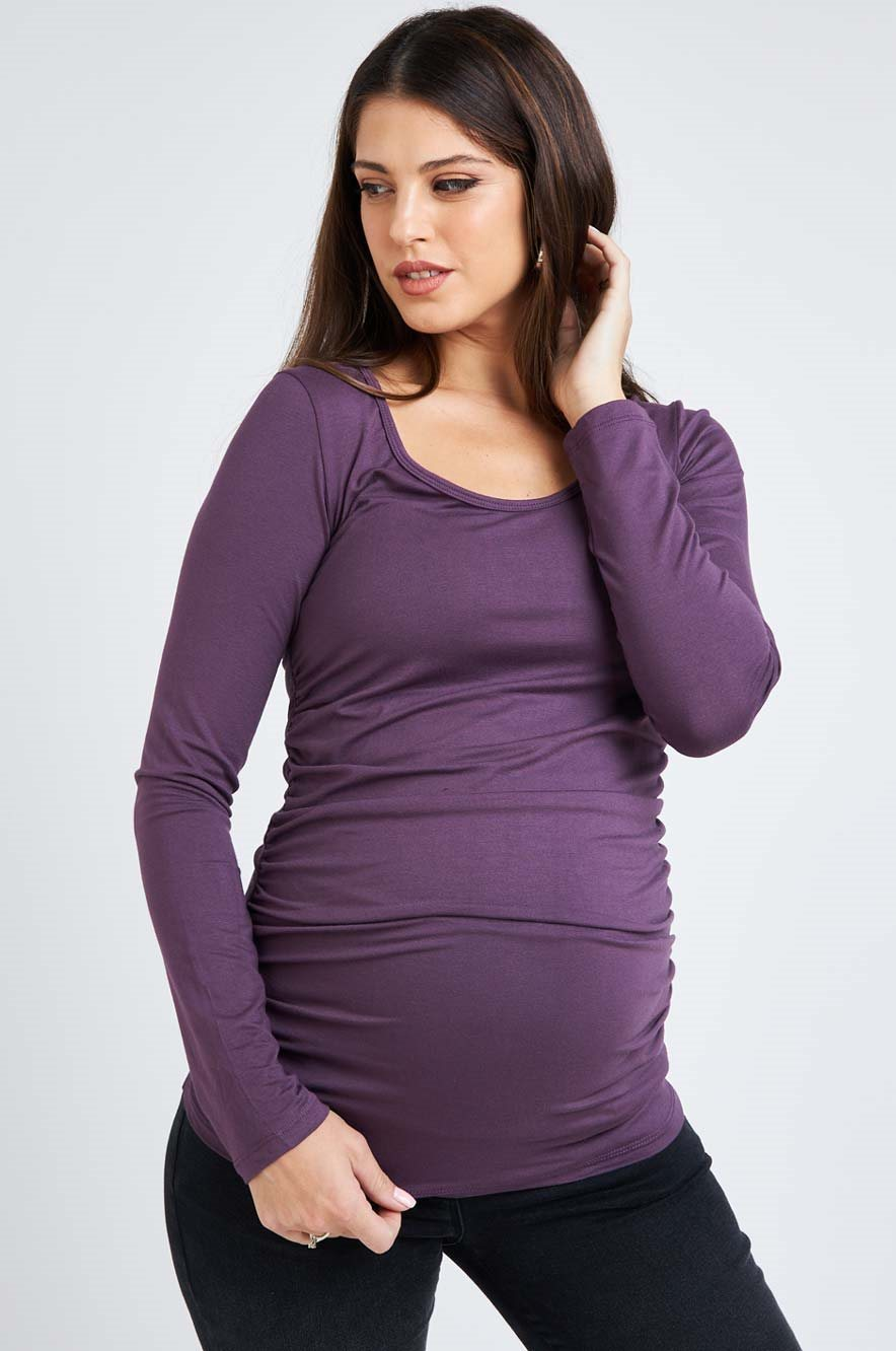 Picture of Baby Grow Top L.sleeve Purple