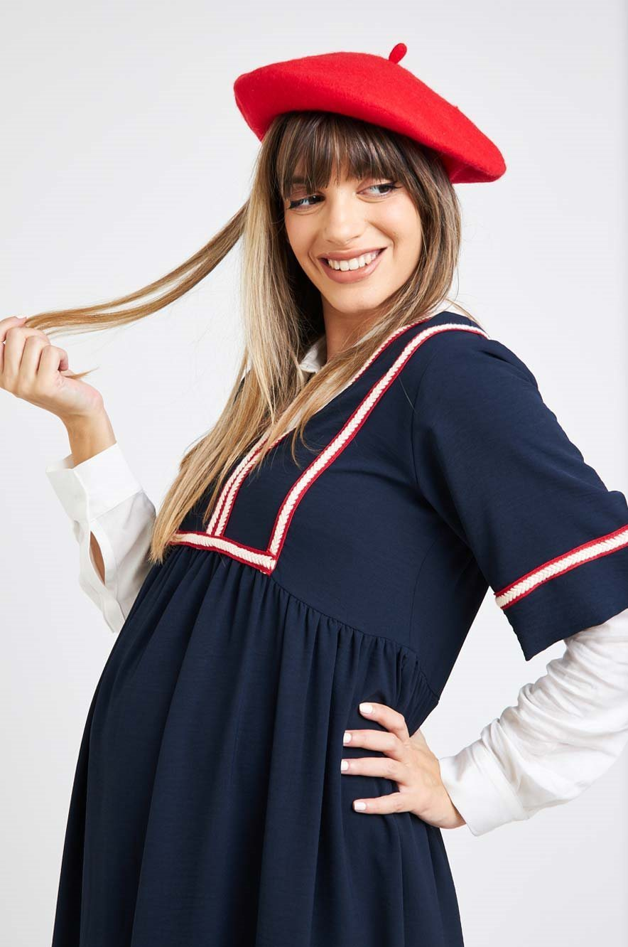 Picture of Amit Maternity Dress Navy