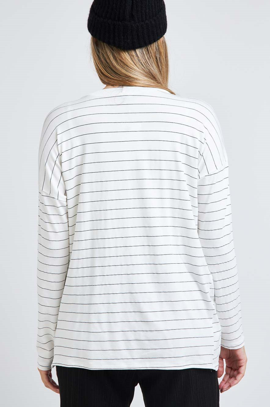 Picture of Rona Top White Stripes