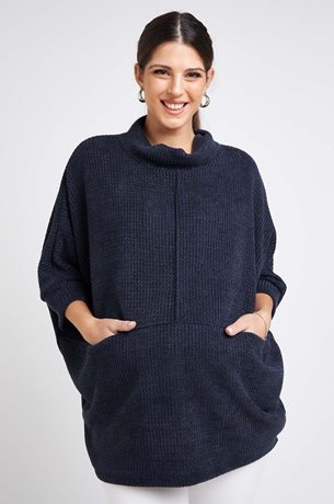 Picture of Monica Knit Top Navy