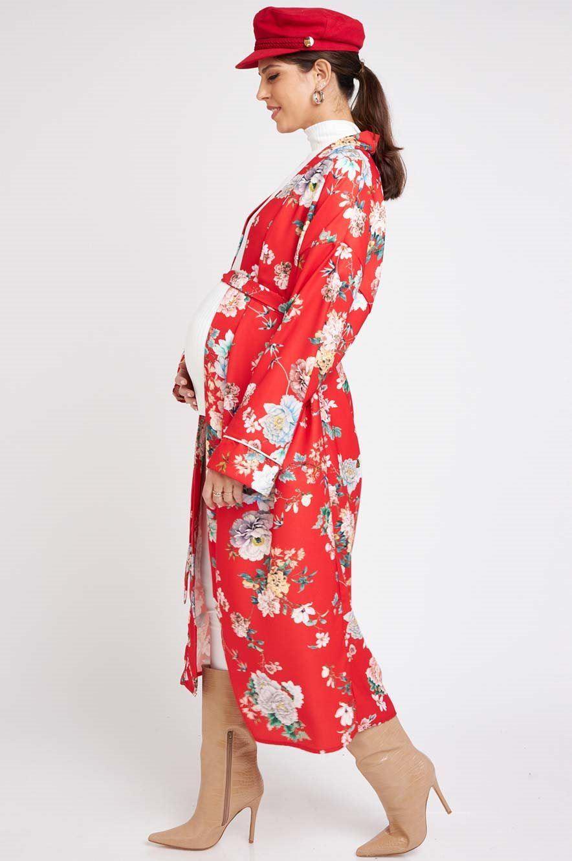 Picture of Red Floral Kimono