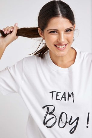 Picture of TEAM BOY Maternity T-shirt White