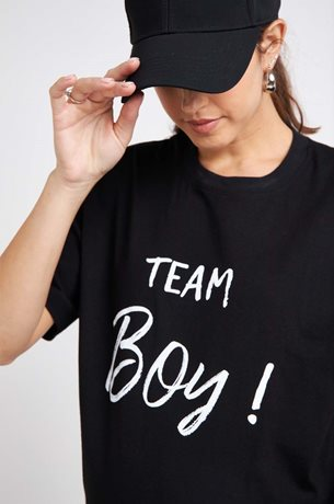 Picture of TEAM BOY Maternity T-shirt Black
