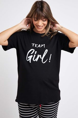 Picture of TEAM GIRL Maternity T-shirt Black