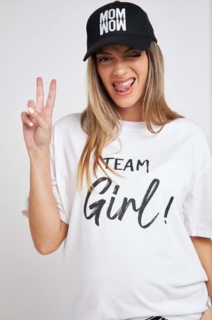 Picture of TEAM GIRL Maternity T-shirt White