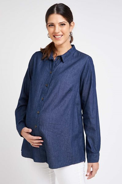 Picture of Denim Button Through Blouse