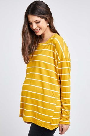 Picture of Rona Top Mustard Stripes