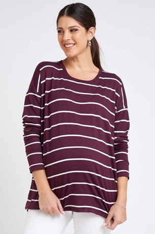 Picture of Rona Top Purple Stripes