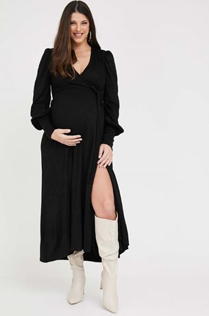 Picture of Eloise Wrap Maternity Dress Black