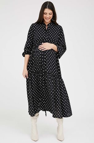 Picture of Claudette Maternity Dress polka dots