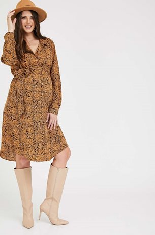 Picture of Rome shirt-dress Mustard print