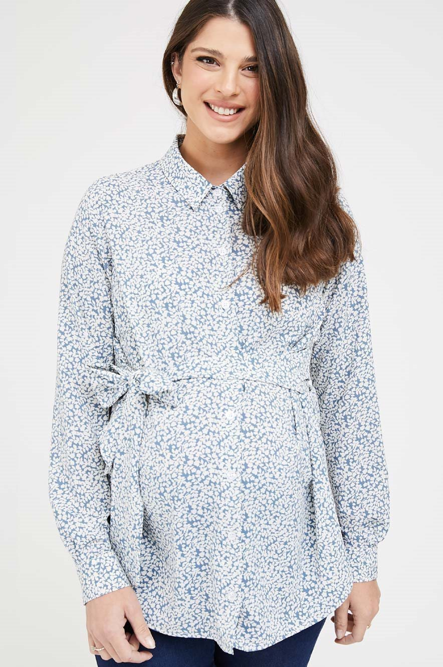 Picture of Lindos Top Floral blue
