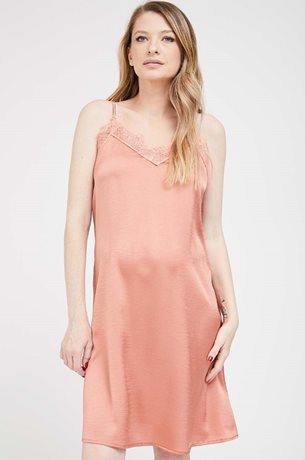Picture of Slip Lace Maternity Dress Peach