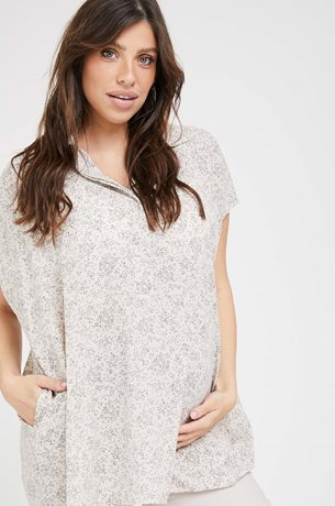 Picture of Tahel Oversize Maternity Blouse Floral