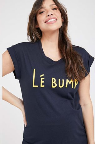 Picture of Le bump Maternity Tee Navy