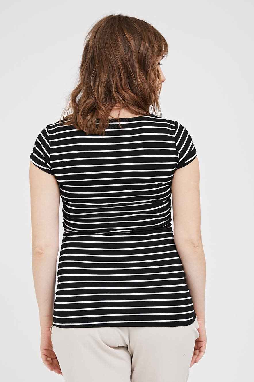 Picture of Nursing Baby Grow Top Black Stripes
