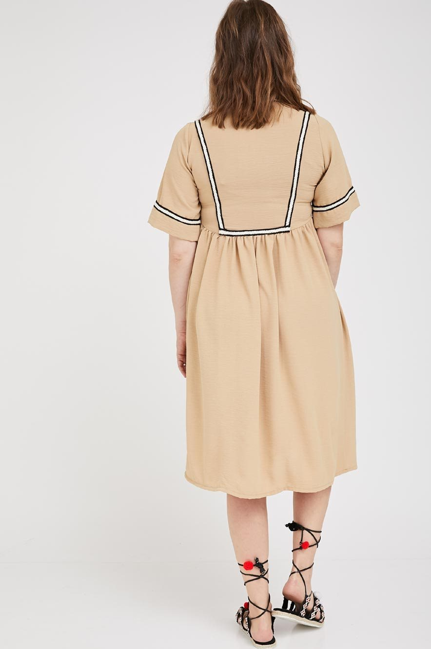 Picture of Amit Maternity Dress Beige