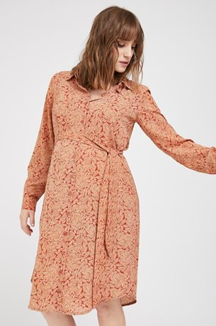Picture of Rome Nursing Shirt-Dress Clay print