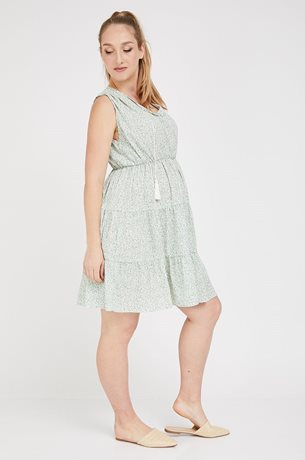 Picture of Sylvie Maternity Dress Green Print