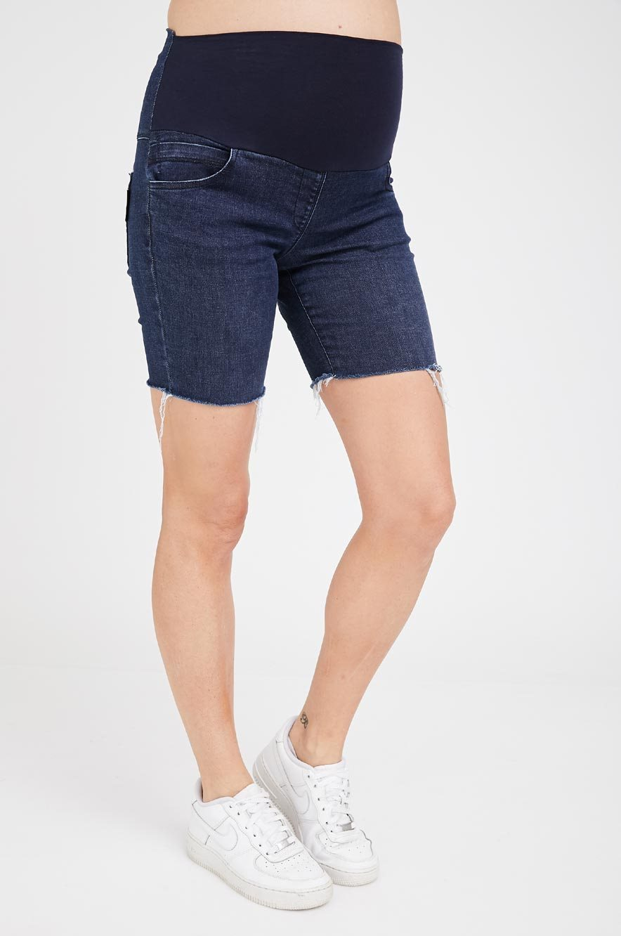Picture of Olivia High Rise Maternity Denim Shorts