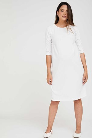Picture of A-Line Shift Maternity Dress Cream