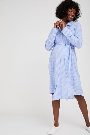 Picture of Audrey Button Down Maternity Dress Stripes