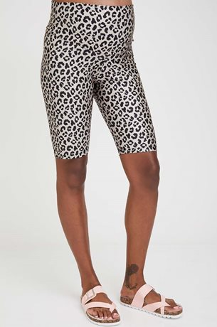 Picture of Printed Maternity Biker Shorts Camel