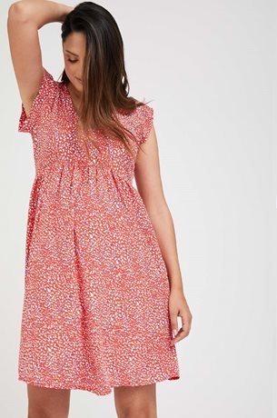 Picture of Sarai Maternity Dress Red print