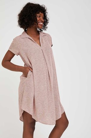 Picture of Oversize Maternity Shift Dress Pink Print