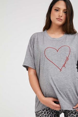 Picture of Love Yourself Maternity T-shirt Grey
