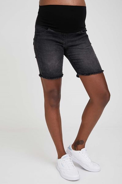 Picture of Olivia High Rise Maternity Denim Shorts Black