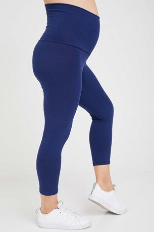 Picture of 3/4 Maternity Leggings Navy
