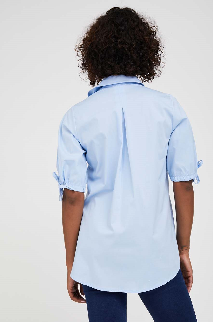 Picture of Veronica Button Down Maternity Blouse Pale Blue