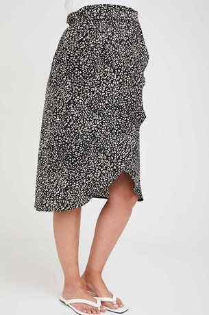 Picture of Wrap Maternity Skirt Beige Print