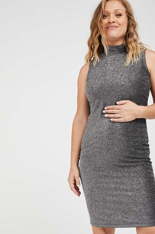Picture of Tara Maternity Cocktail Dress Silver