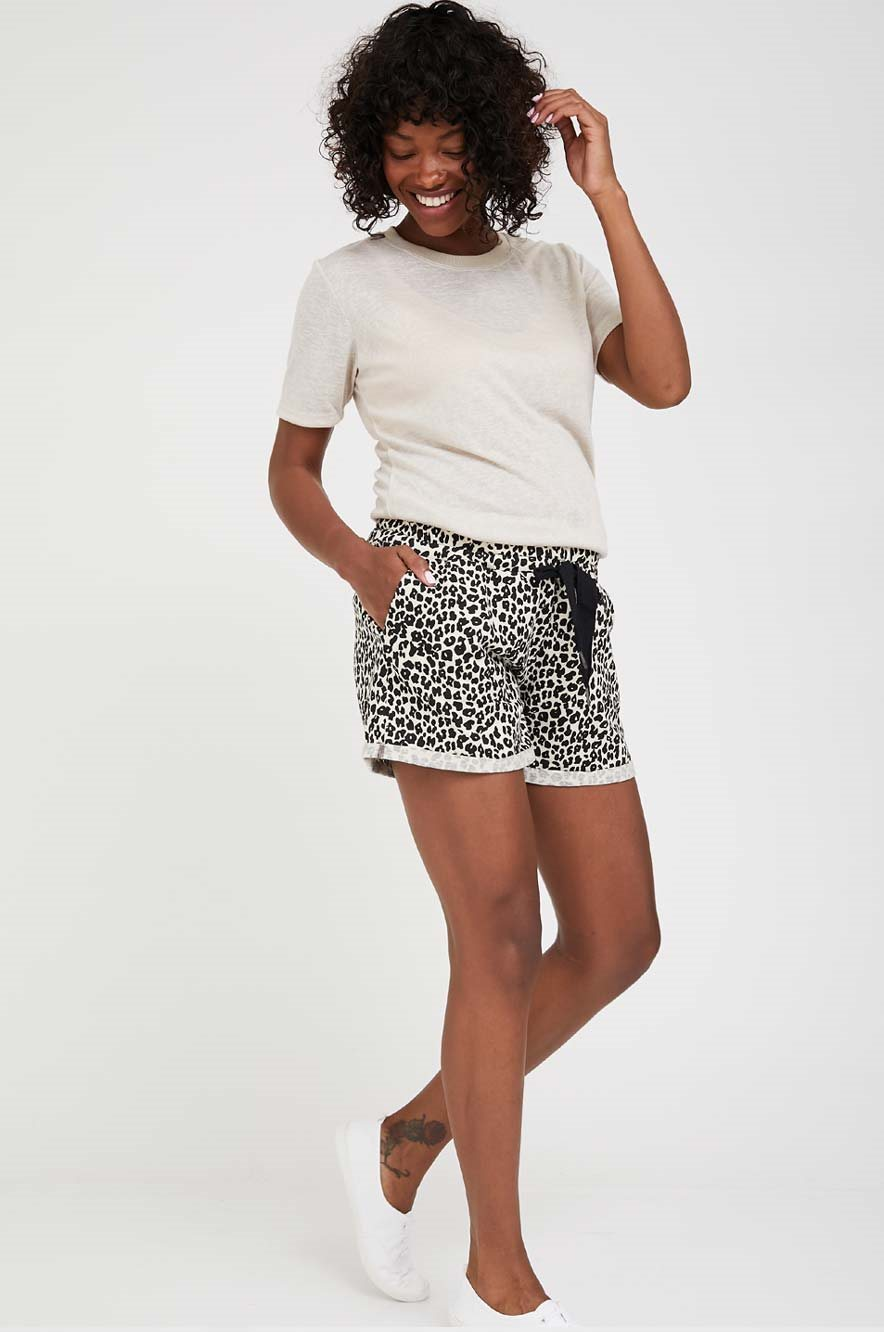 Picture of Angel Maternity Shorts Leopard Print