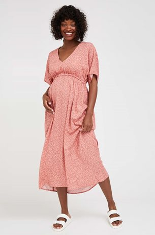 Picture of Mellisa Maternity Empire Dress Pink Print