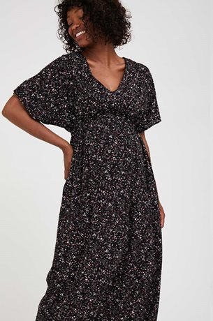 Picture of Mellisa Maternity Empire Dress Black Floral