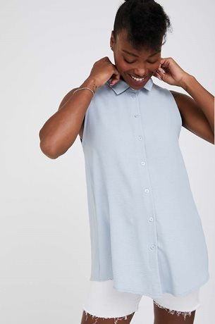 Picture of Kiki Maternity Fitted Blouse Blue