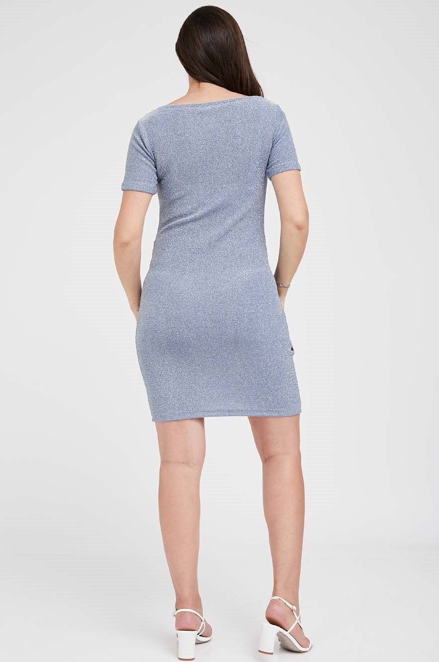 Picture of Nella Fitted Maternity Dress Blue