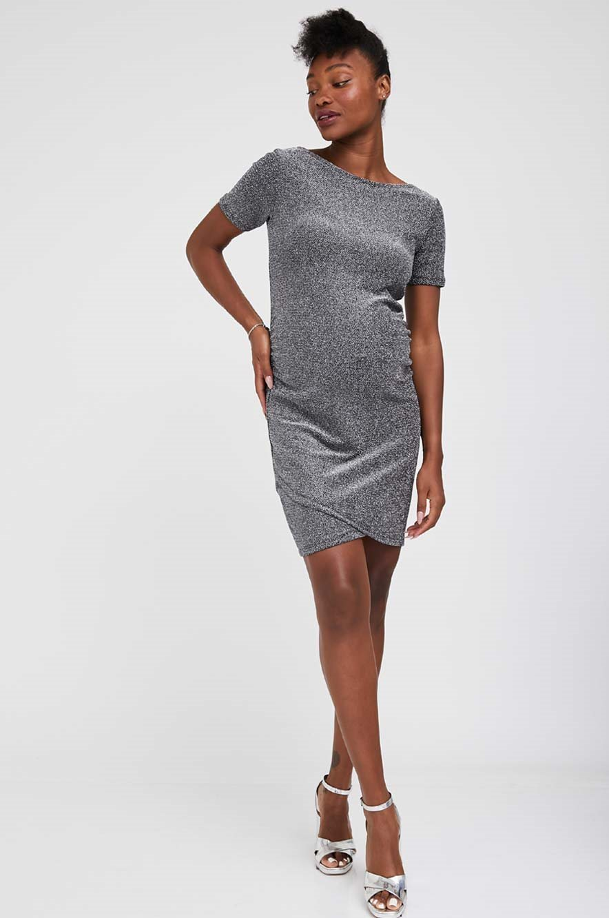 Picture of Nella Fitted Maternity Dress Silver