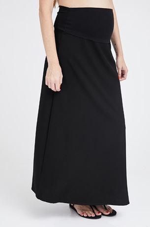 Picture of Amalia Long Maternity Skirt Black