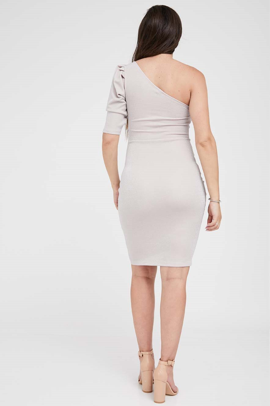 Picture of Monique Puff Sleeve Maternity Dress Pink