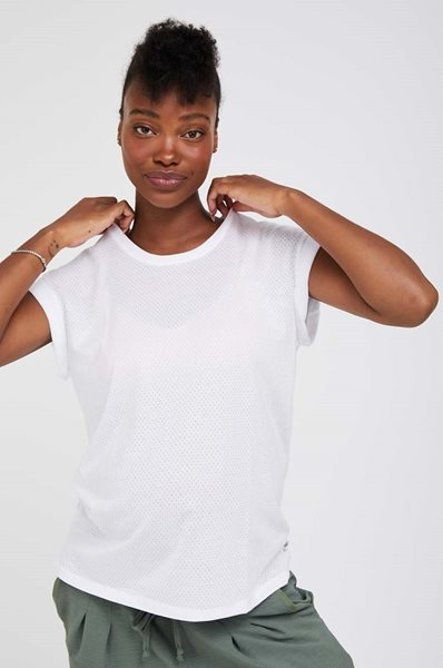 Picture of Mesh Maternity Top White